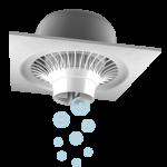Clenzair Fan in Ceiling Tile